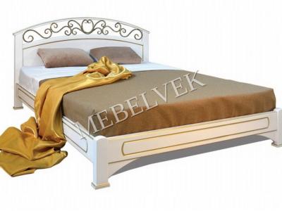 Двуспальная кровать из массива сосны Лозанна №2
