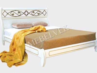 Двуспальная кровать из массива сосны Лозанна №3
