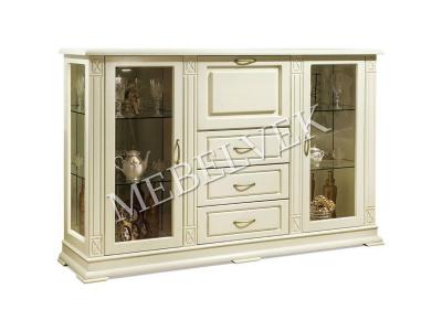 Шкаф Сервант Верди - 315 Цвет: Белый Распродажа 1 штука в наличии