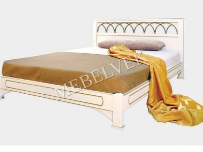 Двуспальная кровать из массива сосны Лозанна №4