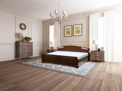 Двуспальная кровать с матрасом Акра