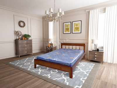 Односпальная белая кровать  Алиса
