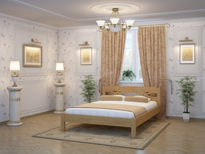 Односпальная кровать из массива сосны Альмерия