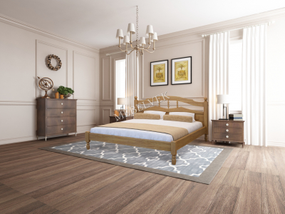 Односпальная кровать из массива сосны Алушта