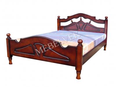 Двуспальная кровать из массива дерева Эльза