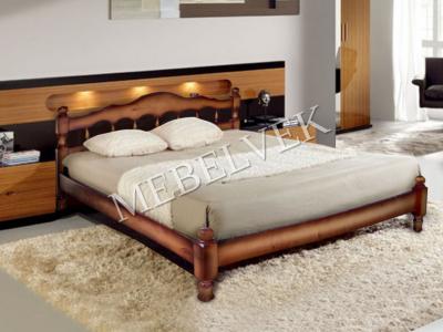 Односпальная кровать из массива сосны Амели