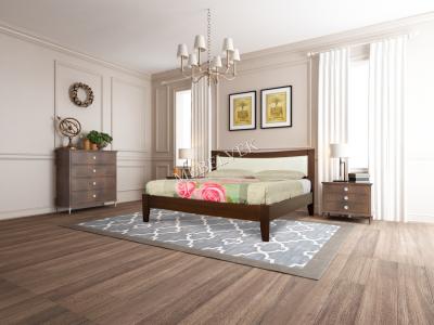 Двуспальная белая кровать Анапа