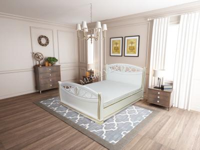 Двуспальная недорогая кровать с подъемным механизмом Анталия