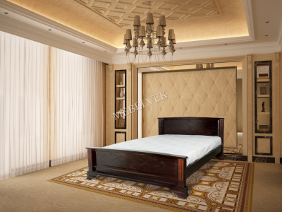 Двуспальная кровать из массива дерева Этель