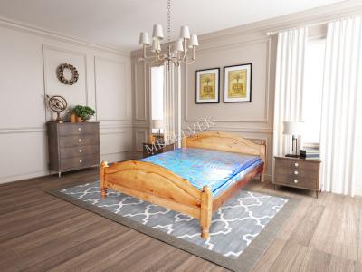 Односпальная белая кровать  Аврора