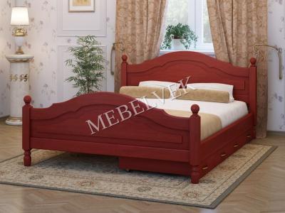 Односпальная кровать из массива сосны Аврора c 2 ящиками
