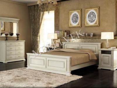 Односпальная белая кровать  Верди Люкс