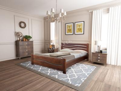 Односпальная кровать с ящиками для белья Берн