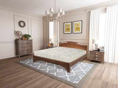 Двуспальная недорогая кровать с подъемным механизмом Бордо
