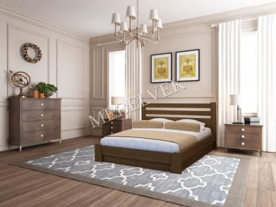 Двуспальная кровать с матрасом Брага