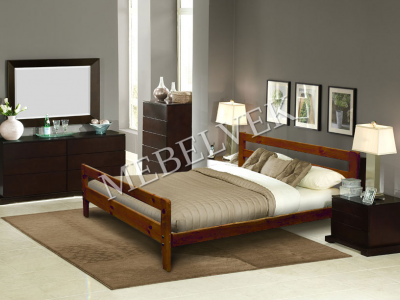Односпальная белая кровать  Дафна