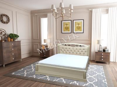 Двуспальная кровать из массива сосны Даллас
