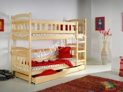 Двухъярусная дачная кровать Умничка