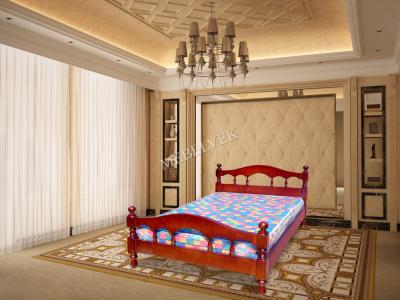 Двуспальная кровать из массива сосны Диана