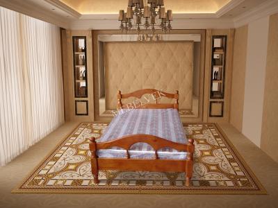 Полутороспальная кровать из массива сосны Дионис