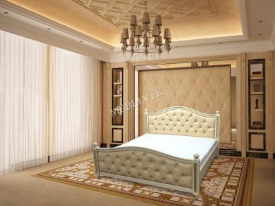 Двуспальная кровать из массива сосны Дублин