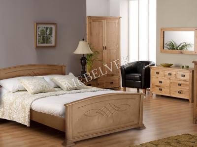 Двуспальная кровать из массива дерева Эжени