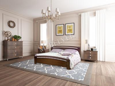 Двуспальная кровать из массива сосны Гамбург