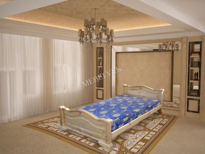 Двуспальная кровать из массива сосны Гефест