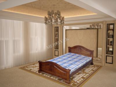 Двуспальная кровать из массива сосны Гефест -1