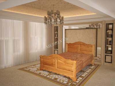 Двуспальная кровать из массива сосны Гермес