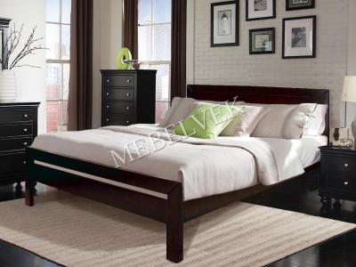 Полутороспальная кровать из массива сосны Глазго