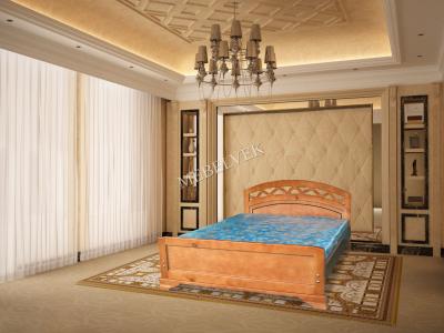 Двуспальная кровать из массива сосны Имола
