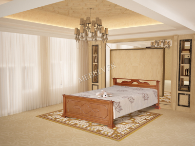 Двуспальная кровать из массива сосны Ирис