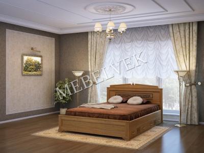 Односпальная кровать из массива сосны Италия с 2 ящиками