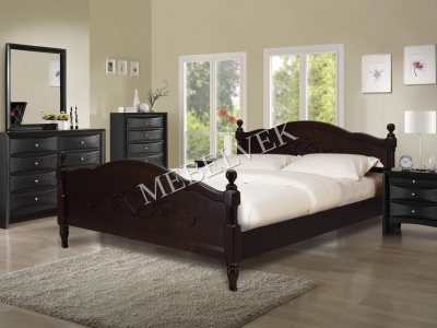 Двуспальная кровать из массива сосны Кассандра