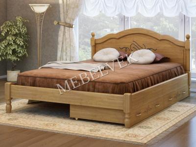 Полутороспальная дачная кровать Кассандра с 2 ящиками