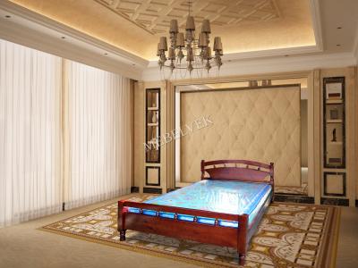 Полутороспальная кровать из массива сосны Киото