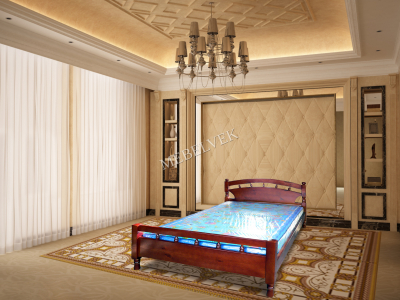 Двуспальная кровать из массива сосны Киото