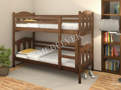 Двухъярусная кровать из массива дерева Кораблик