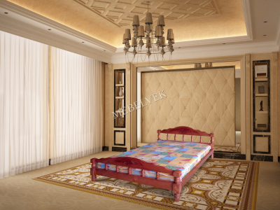 Двуспальная кровать из массива сосны Лацио