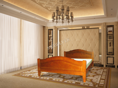 Односпальная кровать из массива сосны Лион