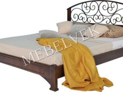 Двуспальная кровать из массива сосны Лозанна