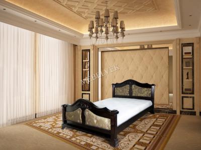 Односпальная кровать из массива сосны Малье