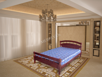 Односпальная кровать из массива дерева Марго
