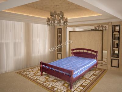 Двуспальная кровать из массива сосны Марго