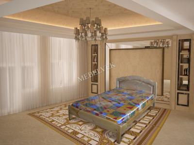 Двуспальная кровать из массива сосны Марсель