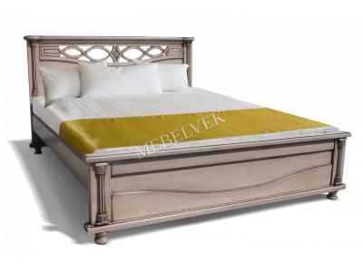 Односпальная белая кровать  Мила