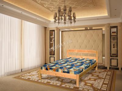Двуспальная кровать из массива сосны Океан