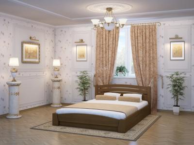 Двуспальная кровать из массива сосны Ольборг