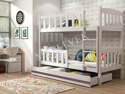 Кровать Ералаш Цвет: Слоновая кость Размер: 80x160 с 1 большим ящиком Распродажа   1 штука в наличии